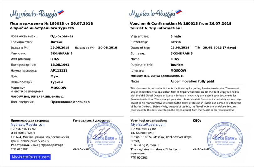 Invitation Letter For Visa Application from myvisatorussia.com